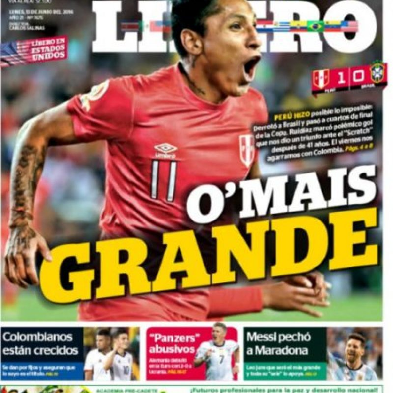La prensa peruana se dio un festín con la clasificación a cuartos de final