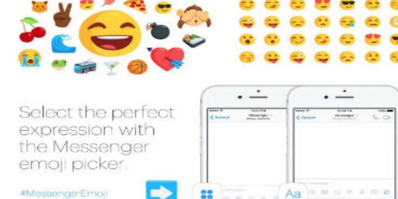 Los nuevos emojis. Foto:Messenger