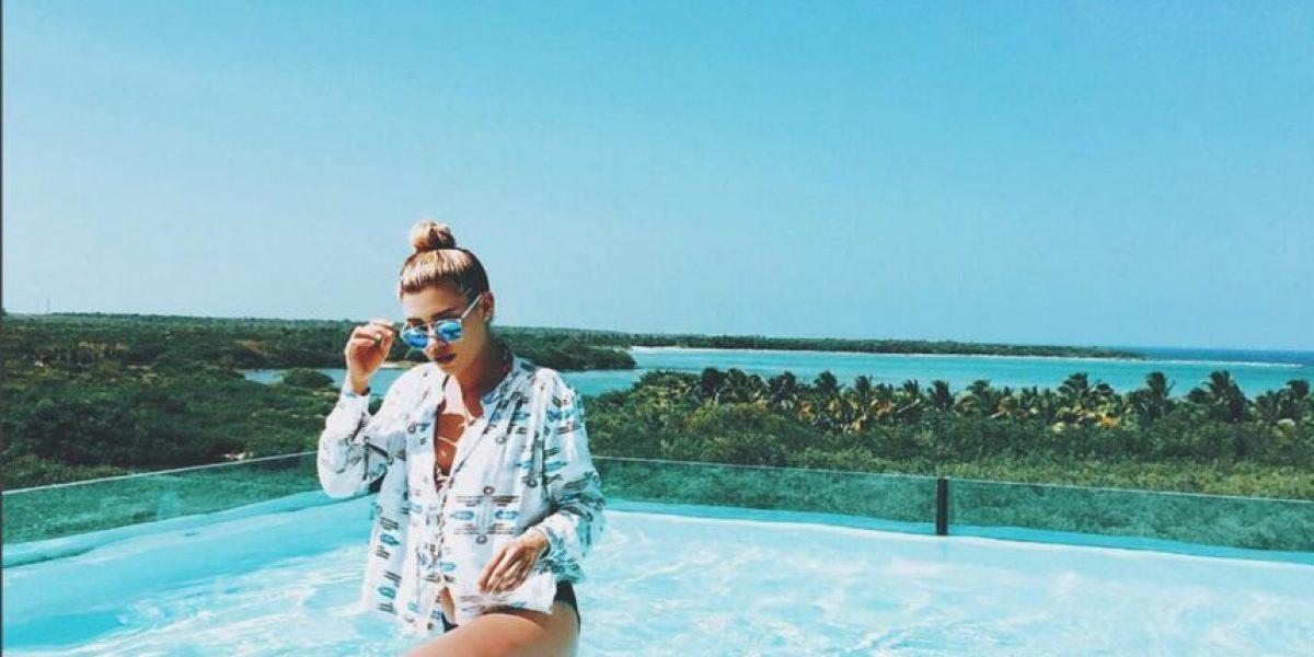 Michelle Salas celebra su cumpleaños más hot en la playa