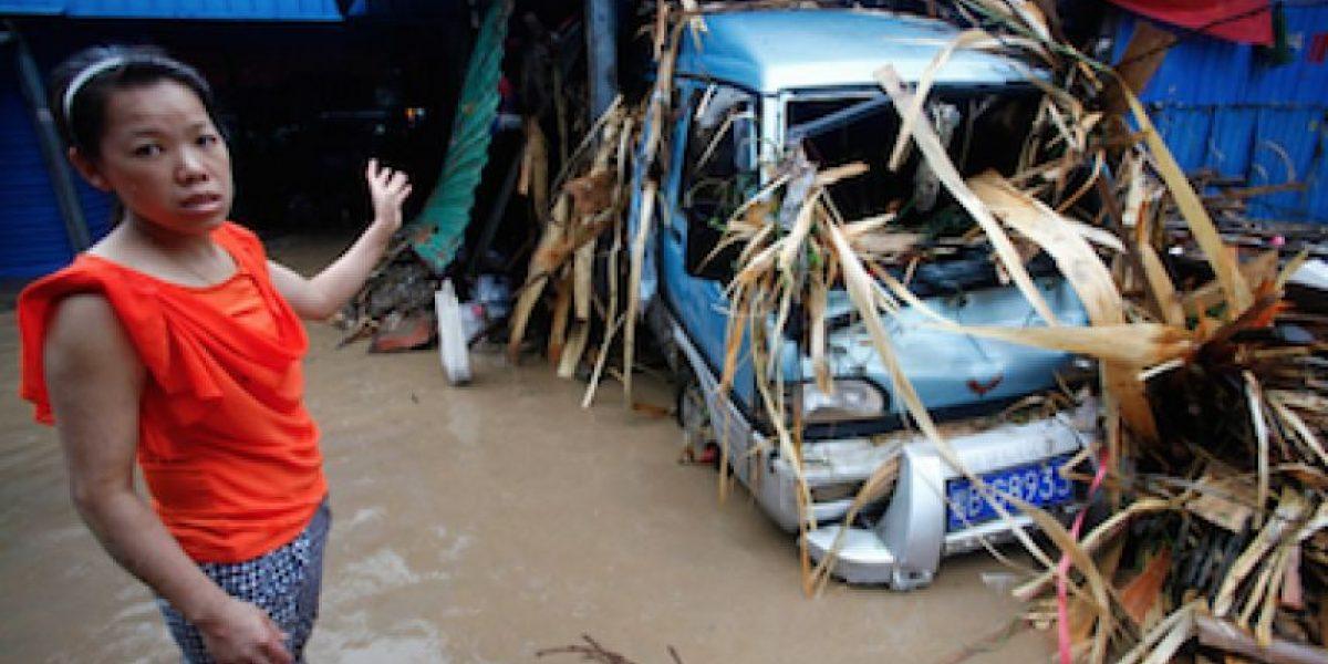 Inundaciones al sur de China dejan al menos 13 muertos