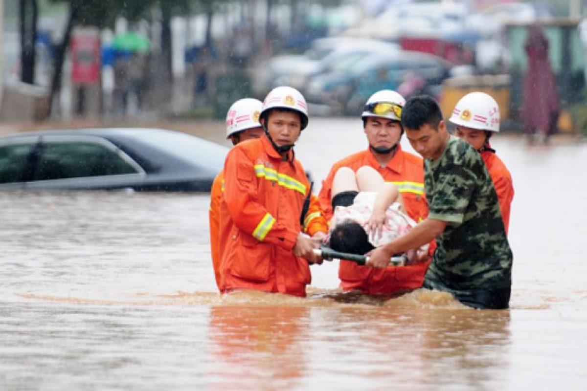 """""""El trabajo de rescate y las labores de socorro en las tres provincias van bien"""", destacó la declaración oficial, según un reporte de la agencia de noticias Xinhua. Foto:Getty Images/ Archivo"""