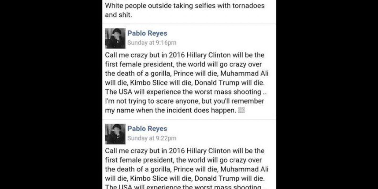 Pero todo se trató de un truco para demostrar que la gente se puede creer cualquier cosa. Foto:Facebook Pablo Reyes