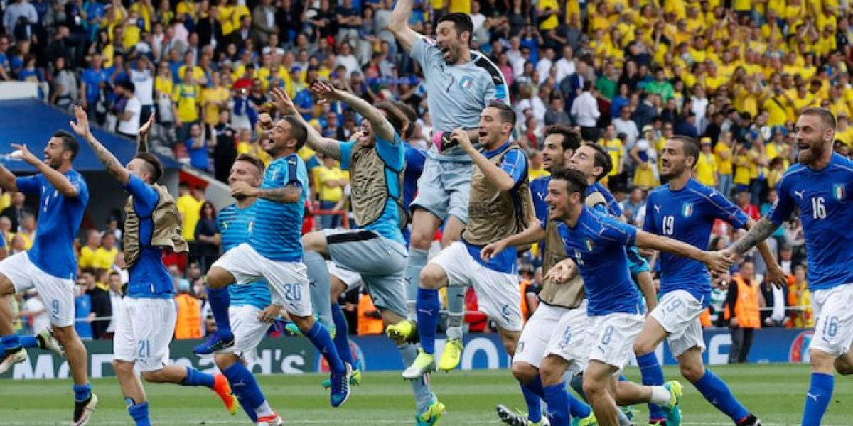 Italia sella su boleto a Octavos y pone a temblar a la Suecia de