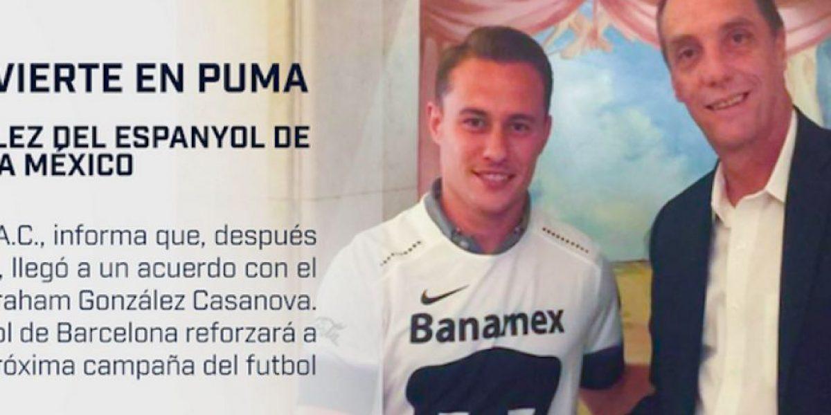 Abraham González llega a los Pumas procedente de Barcelona