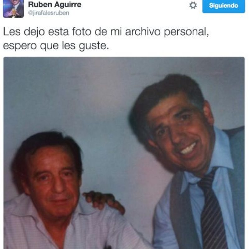 Los tuits con los que sorprendió Rubén Aguirre en redes sociales Foto:Twitter.com/JirafalesRuben