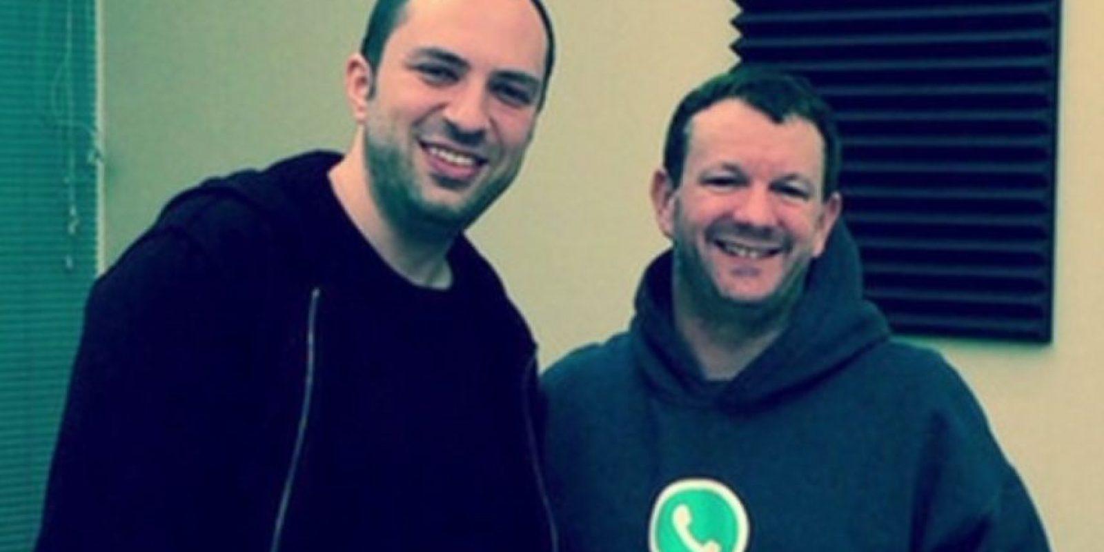 Jan Kum y Brian Acton, los creadores de la app. Foto:Tumblr