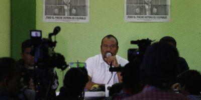 Francisco Villalobos Ricárdez, secretario de Organización de la sección 22 de la CNTE. Foto:Cuartoscuro