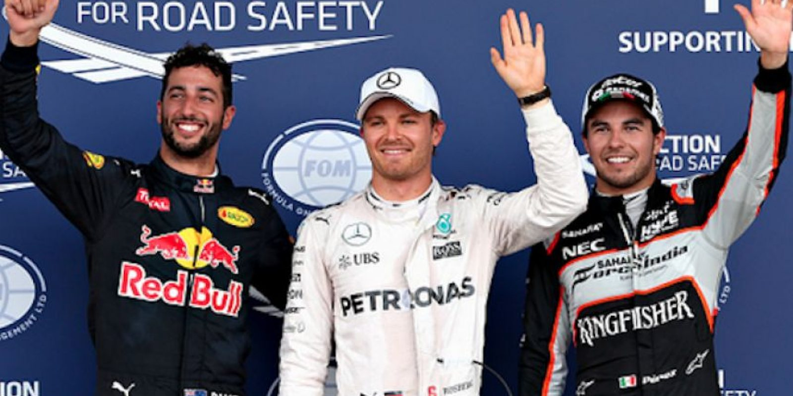 Rosberg, Pérez y Ricciardo fueron los tres mejores volantes en las calificaciones. Foto:Getty Images