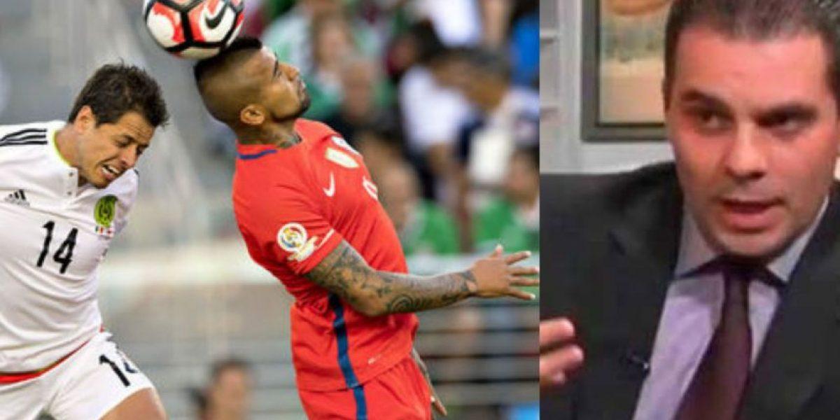 El comentarista mexicano que sufrió ante la goleada de Chile vs. México