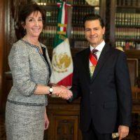 Roberta Jacobson la nueva embajadora de EU habló de la relación bilateral con México. Foto:Notimex