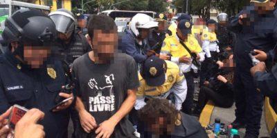 Un grupo de 25 personas arribaron a las oficinas para provocar desmanes Foto:SSP-CDMX