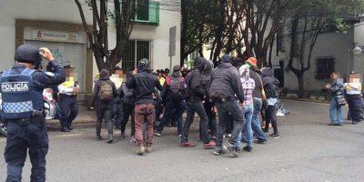 De ellas fueron detenidas nueve personas por portar objetos aptos para agredir Foto:SSP-CDMX