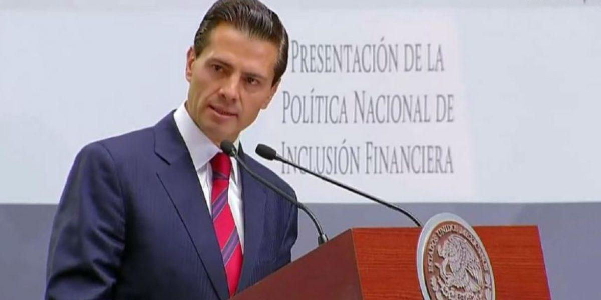 Peña Nieto anuncia política de inclusión financiera