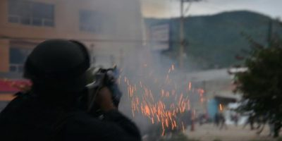 Chong reiteró que los elementos que participaron en los desbloqueos en Oaxaca no estaban armados. Foto:Darío Nolasco / ADN Sureste