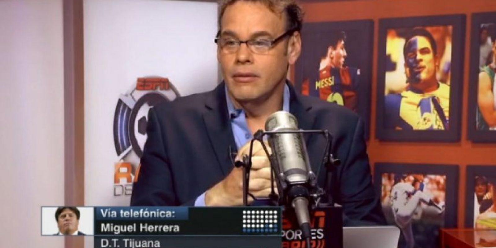 """David Faitelson cuylpa al """"Piojo"""" Herrera de la eliminación de México Foto:ESPN"""
