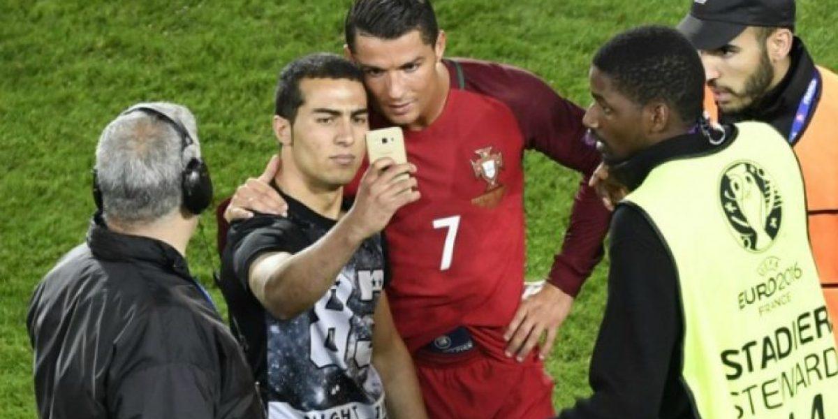 Así habría quedado la selfie de un hincha con Cristiano Ronaldo