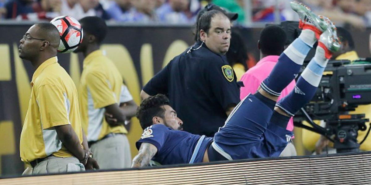 Lavezzi sufre dramática lesión en un brazo