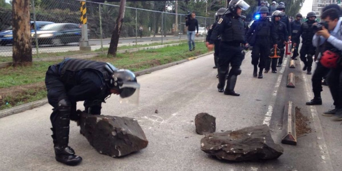 Reabren Insurgentes Sur tras bloqueo de encapuchados