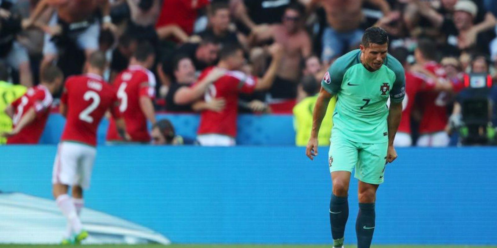 El luso poco había hecho en los empates ante Islandia y Austria y sumó las críticas de la prensa portuguesa Foto:Getty Images