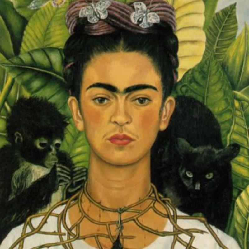 Frida Kahlo en uno de sus retratos más populares. Foto:Wikipedia