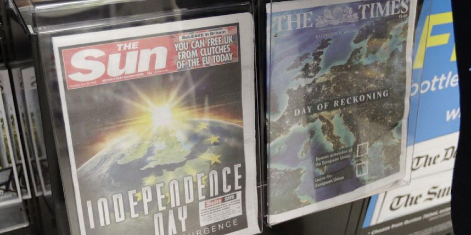 Los diarios más comprados en Reino Unidos también han hecho campaña Foto:AP