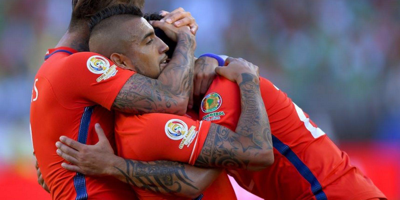 Los chilenos demostraron su credencial de campeón de América y humillaron a los mexicanos Foto:Getty Images