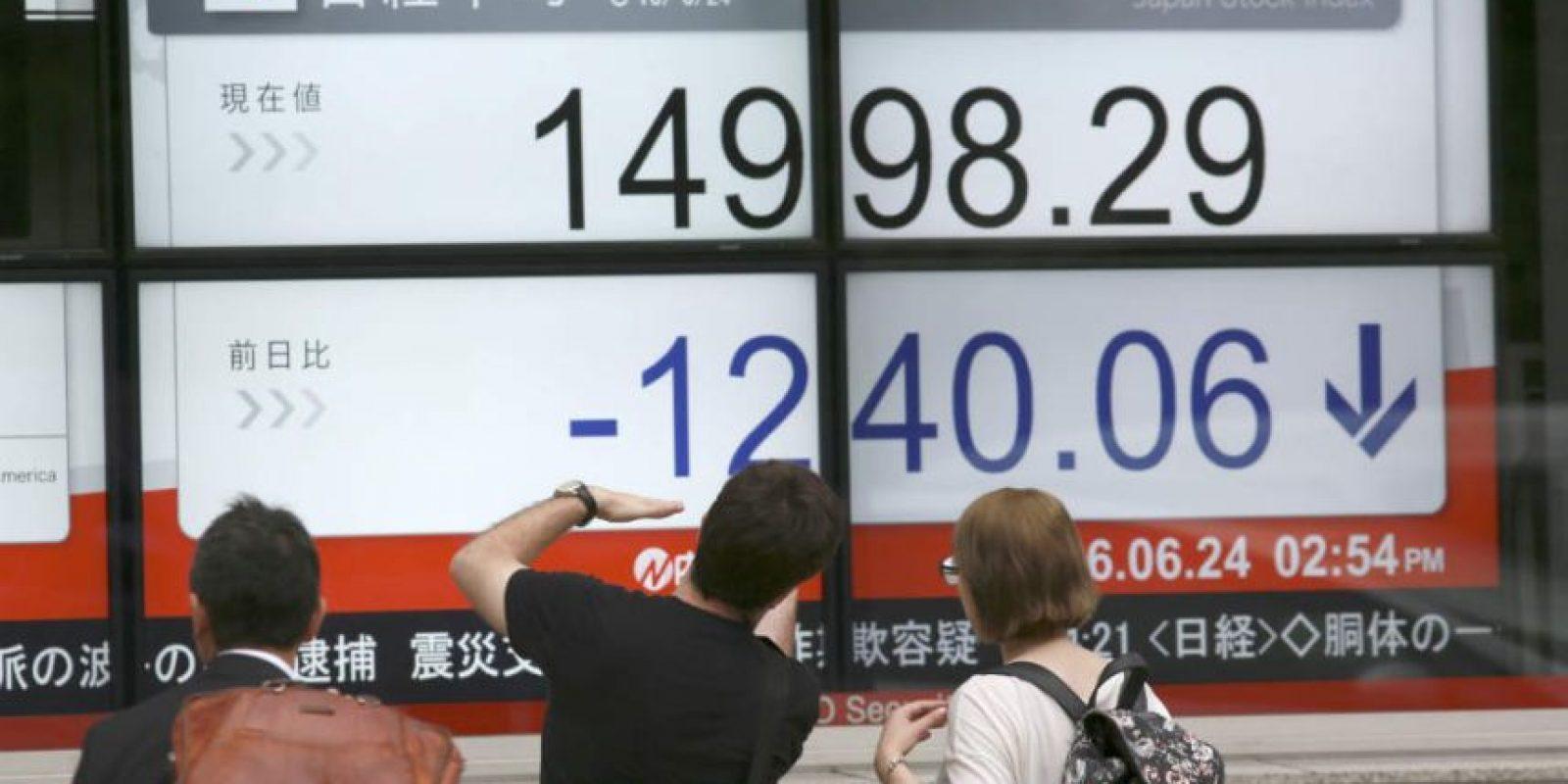 El índice Nikkei se desplomó un 7. 92% Foto:AP