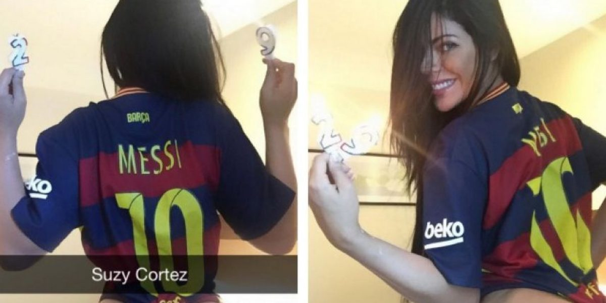 ¡Tremendo regalo! Miss Bum Bum felicita a Messi con candentes fotos