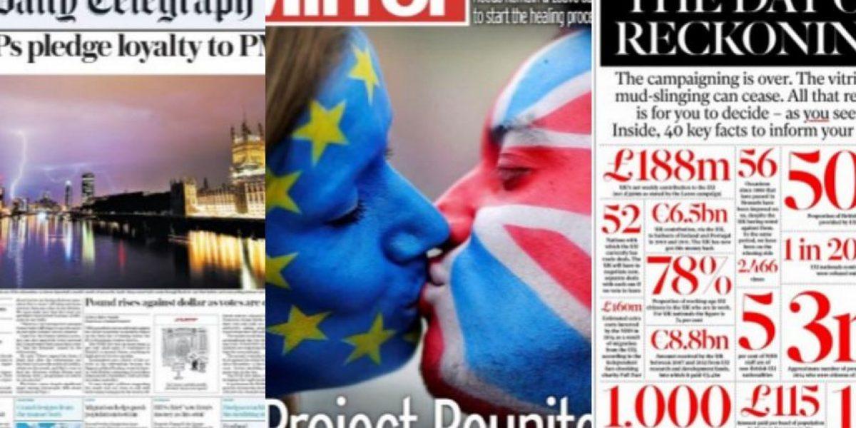 FOTOS: las portadas de la prensa sobre el Brexit