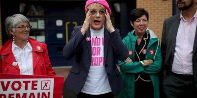 Algunos manifestantes y políticos salieron a las calles para abogar por su postura Foto:Getty Images
