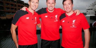 Steven Gerrard y Jamie Carragher de izquierda a derecha Foto:Getty Images