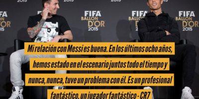 Esto opina Cristiano Ronaldo de Lionel Messi. Foto:Getty Images