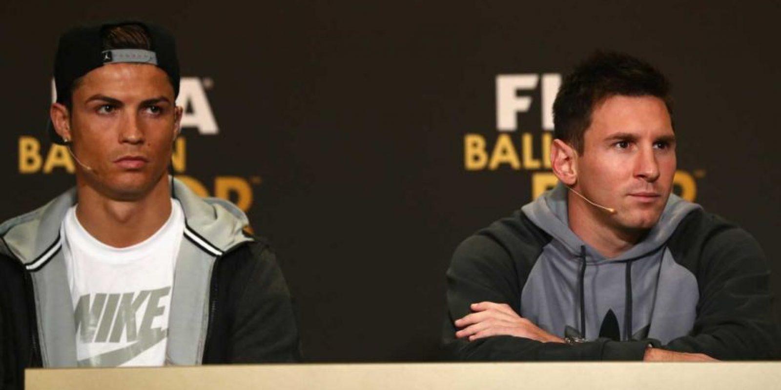 "A veces gana Leo, a veces ""CR7"". Foto:Getty Images"