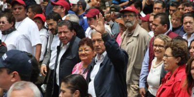 El líder de Morena encabezó un mitin en la Glorieta de Colón de Reforma Foto:Nicolás Corte