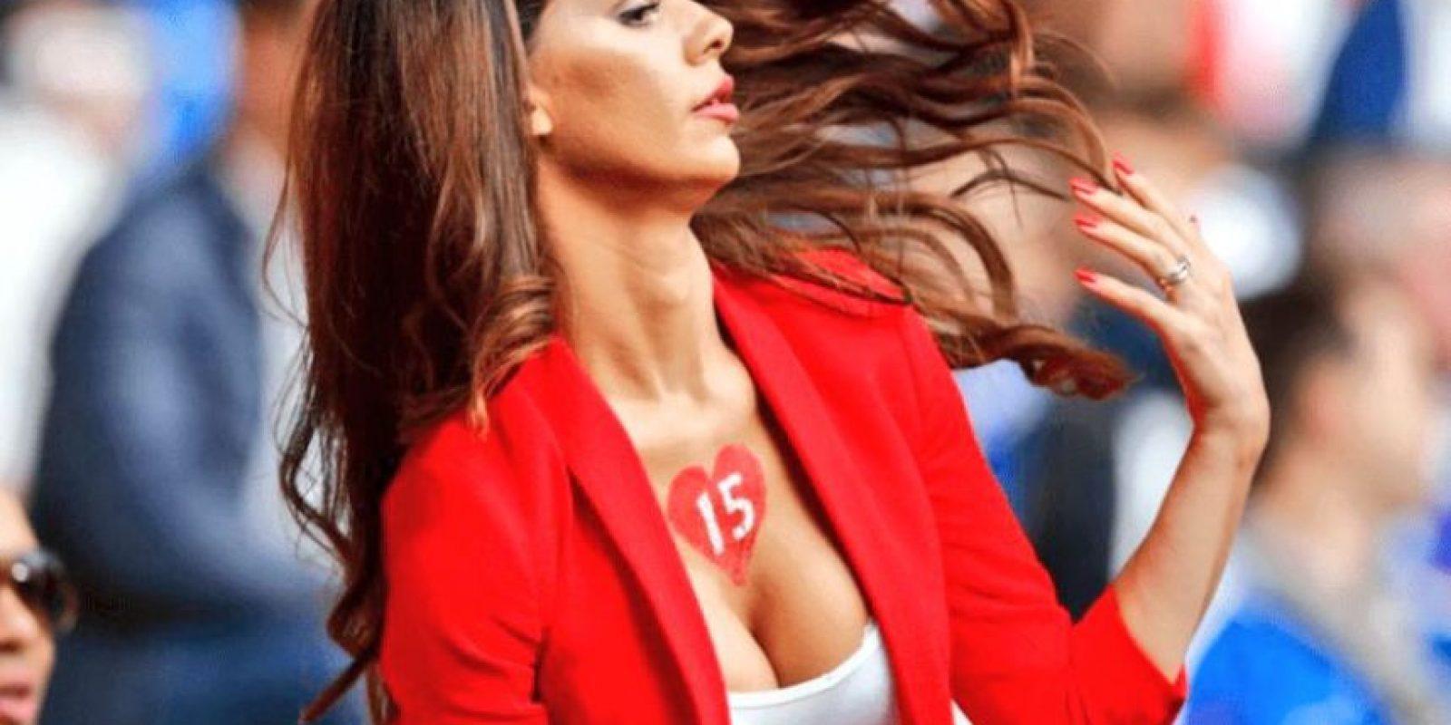 En todos los partidos de Suiza, ella acaparó las miradas. Foto:Twitter