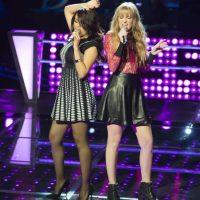 """Itali Heide y Jimena Bautista interpretaron """"Valerie"""" y la triunfadora fue Itali. Foto:Televisa"""