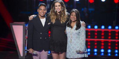 """""""Si te pudiera mentir"""" fue el tema que cantaron Daniela Ramírez y Poncho Arocha. Ganó Poncho. Foto:Televisa"""