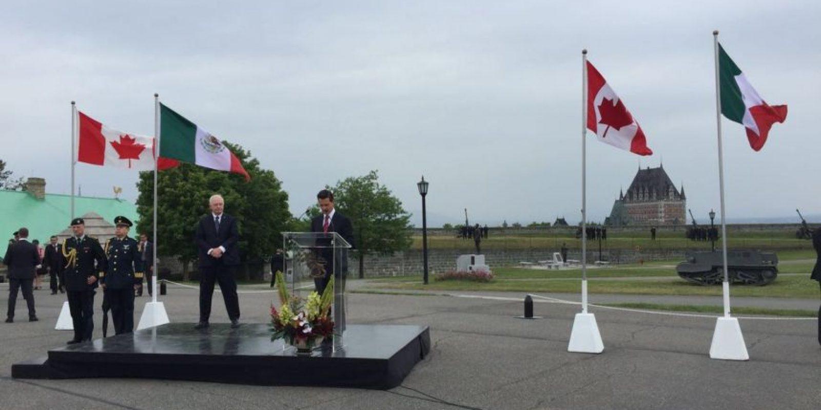 El presidente Enrique Peña Nieto reconoció los lazos que unen a México y Canadá Foto:@PresidenciaMX