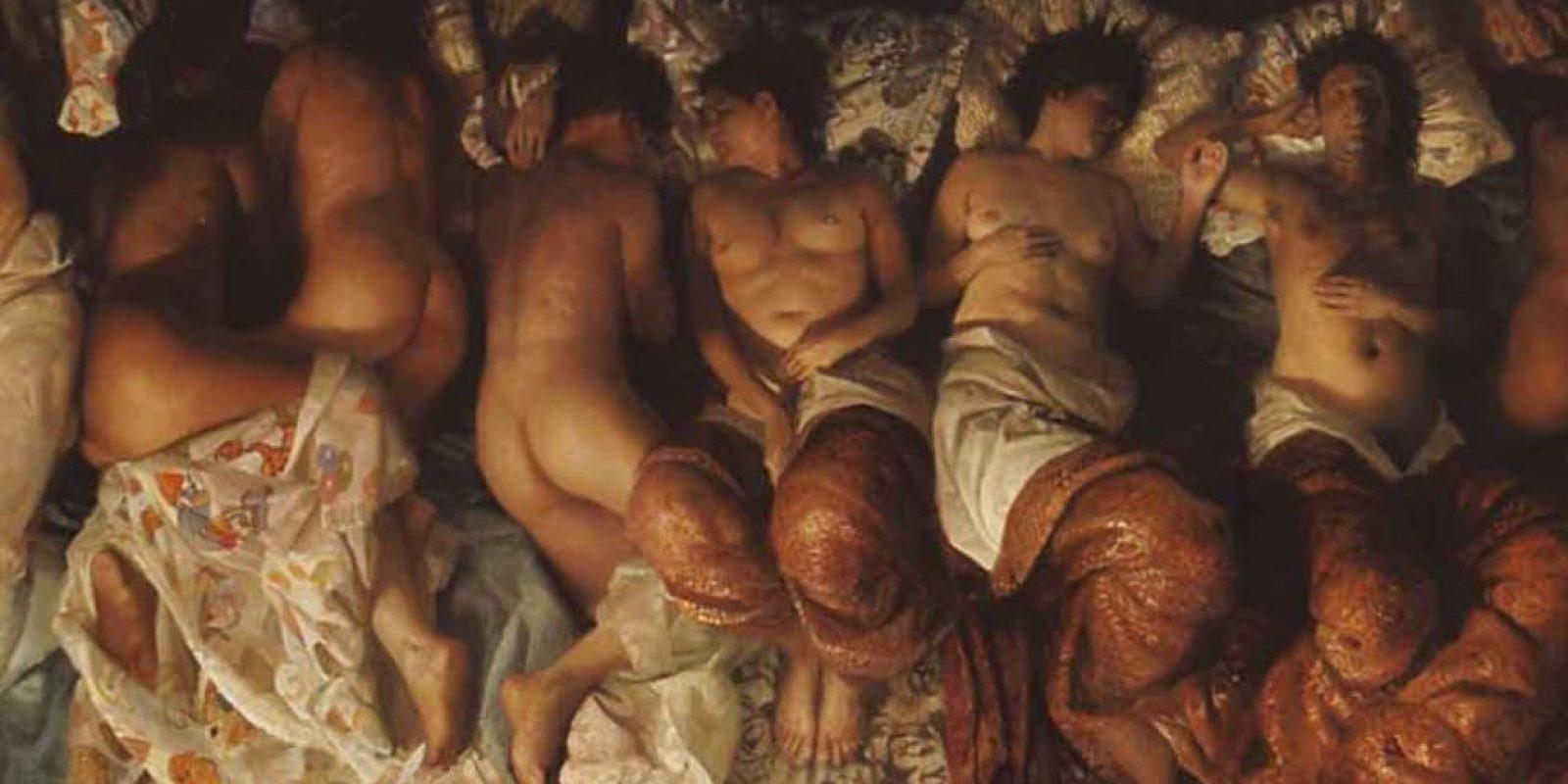 La obra del artista Desiderio creada en 2003 fue la principal inspiración del polémico video. Foto:Especial