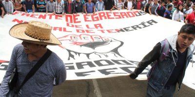 Los manifestantes se reunieron en el Ángel de la Independencia Foto:Nicolás Corte