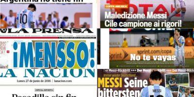 Retiro de Messi de su selección causa impacto en la prensa internacional