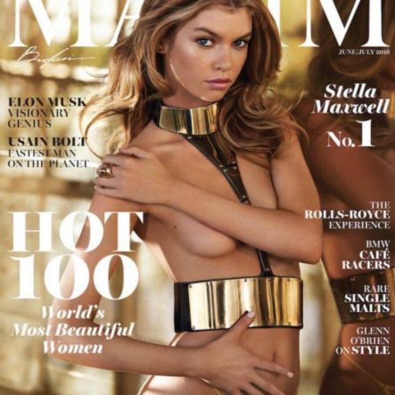 """En la revista """"Maxim"""" Foto:Vía Instagram/@Stellamaxwell"""