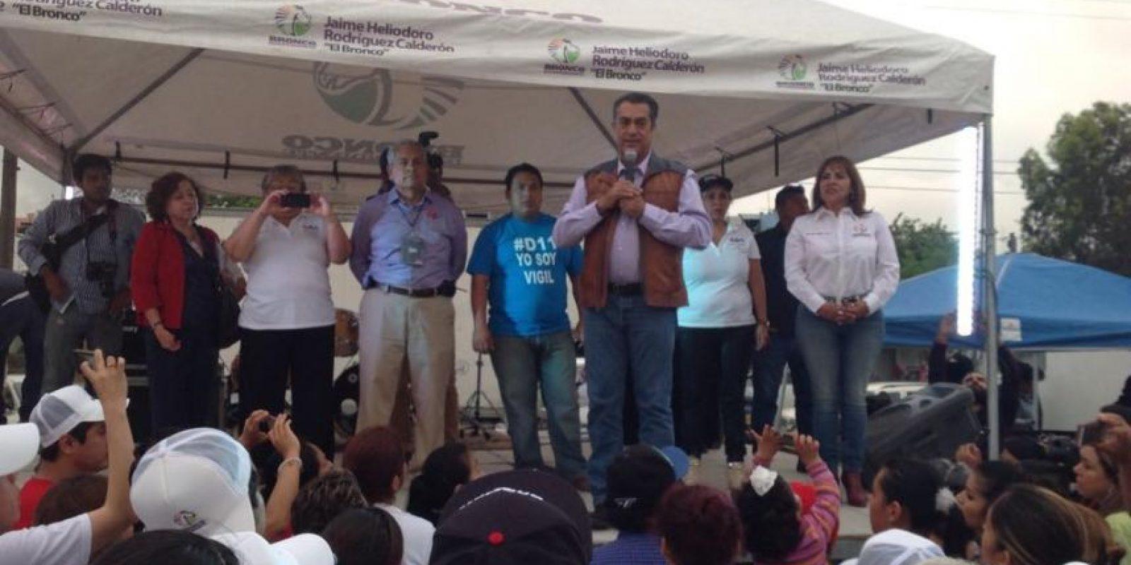"""""""El Bronco"""", durante un mitin de campaña en 2015 Foto:Facebook"""