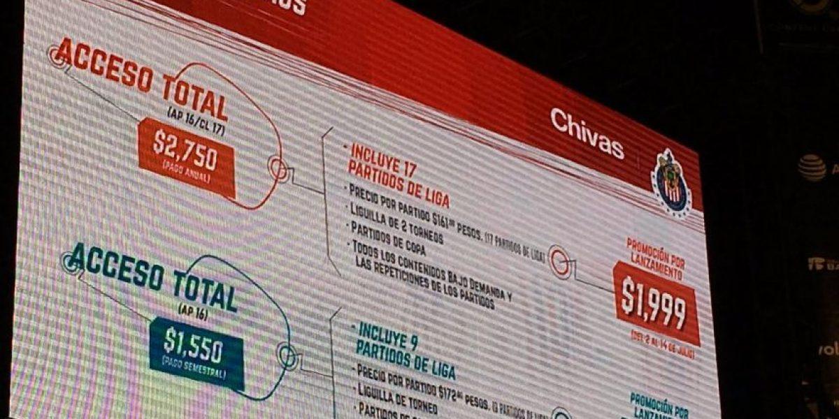 Dan a conocer precios para Chivas TV