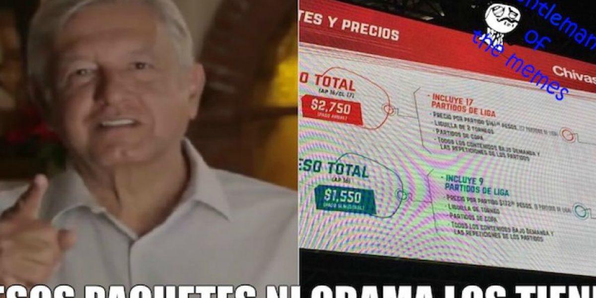Chivas TV anuncia sus precios y aparecen las burlas