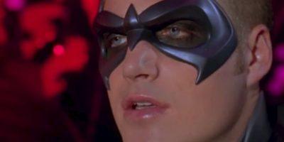 """Chris O' Donnell en """"Batman Forever"""" (1997). Ese brillo labial e interpretar a un Robin totalmente manipulable lo alejaron de cualquier posibilidad. Foto:Warner"""