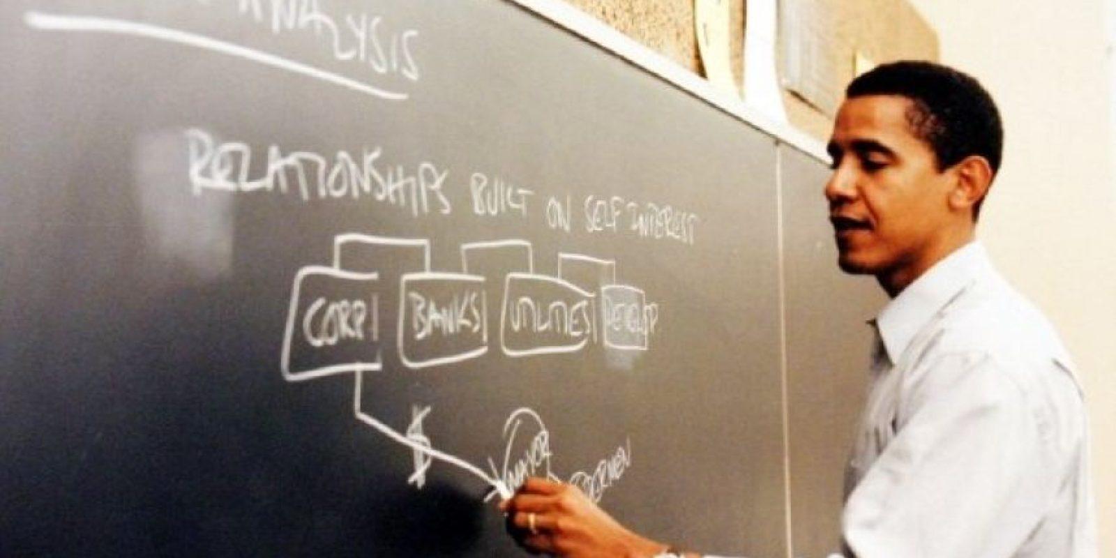 A finales de 1988 estudió Derecho en Harvard Foto:Facebook: Barack Obama