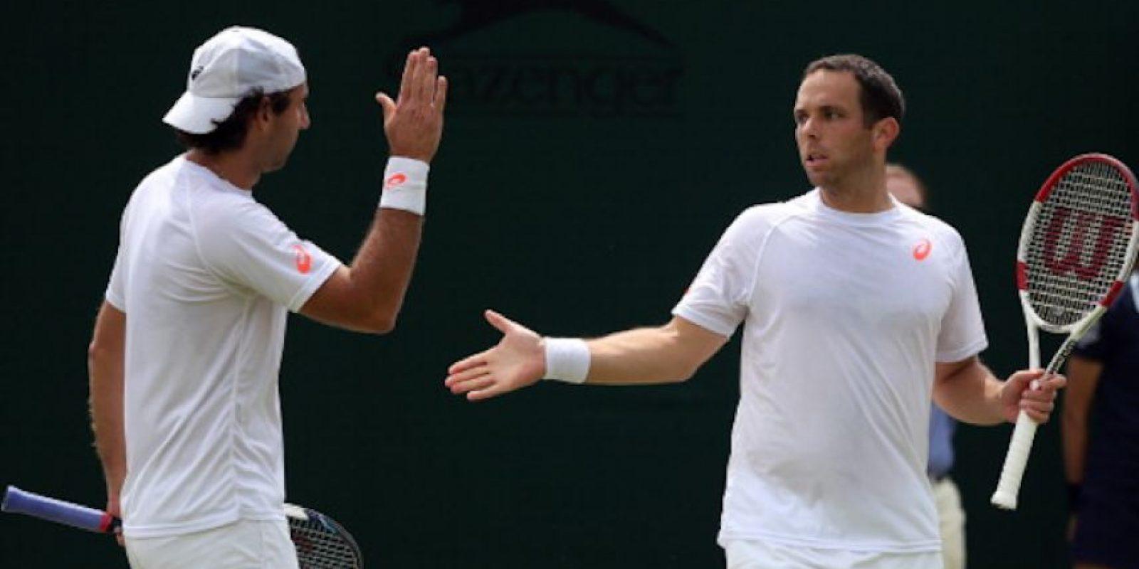 González y Scott Lipsky durante 2015. Foto:Getty Images