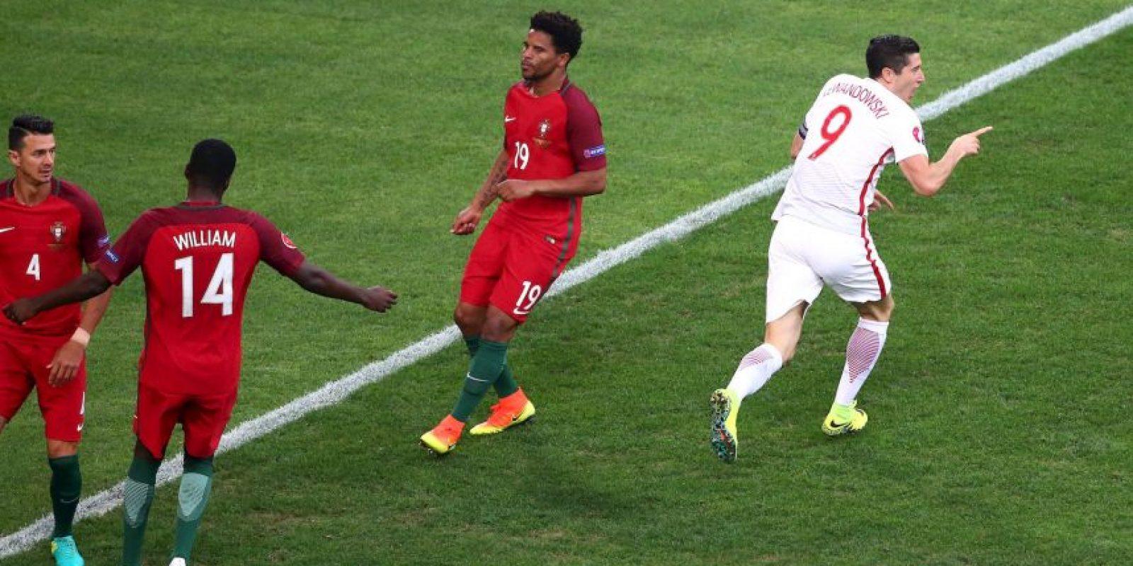 El delantero abrió la cuenta cuando se jugaban un minuto y cuarenta segundo del partido por cuartos de final ante Portugal Foto:Getty Images