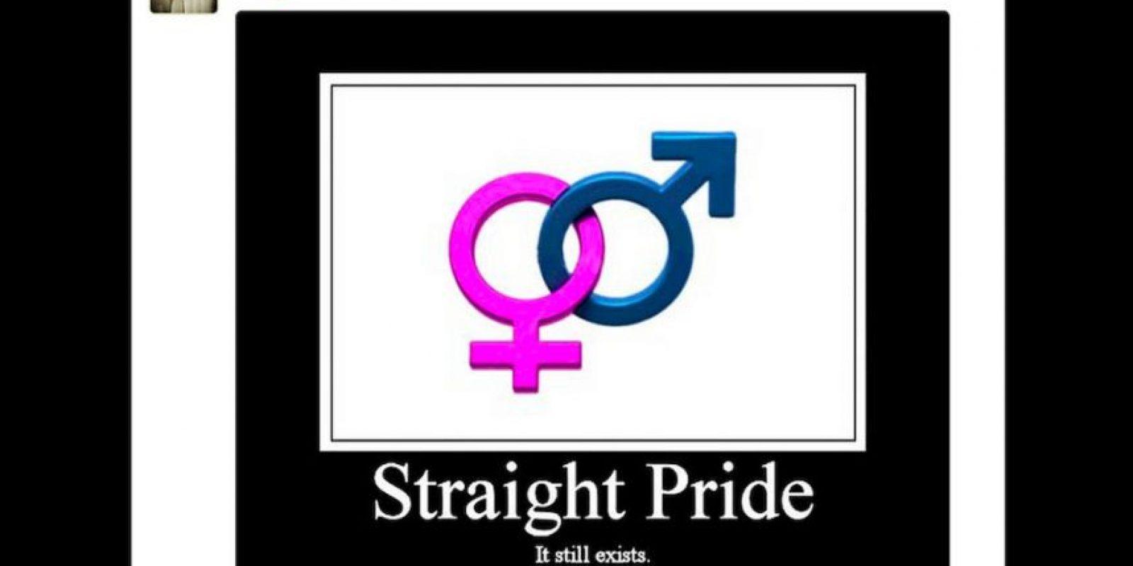 """Millones de personas son las que piden a través de las redes sociales celebrar un """"Día del Orgullo Heterosexual"""". Foto:Reproducción Twitter"""